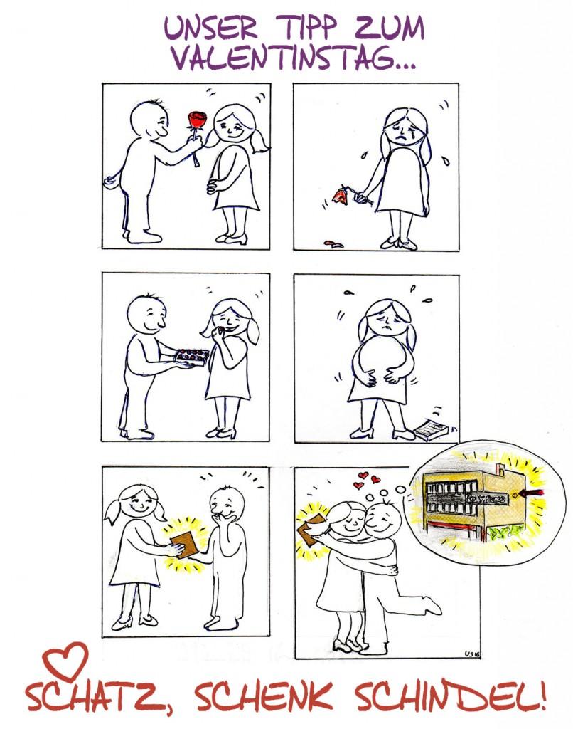 Schatz, schenk Schindel (Comic.)