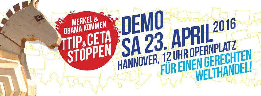 TTIP-Demo Hannover 23. April 2016