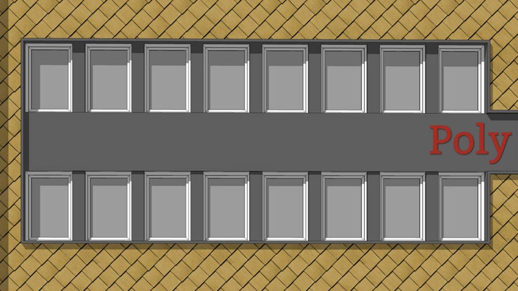 Poly-Haus: Fassadenbefreiung